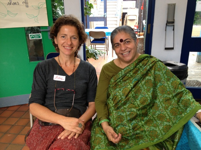 Azul-Valerie Thome and Vandana Shiva 2 women 'seeding' the change they want to see in our world...