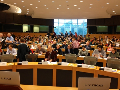 Azul-Valerie Thome at the European Parliament in Brussels